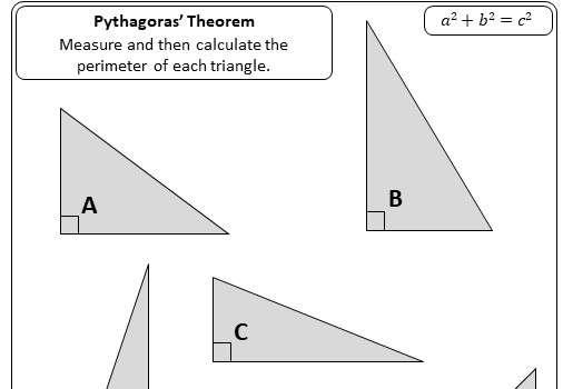 Pythagoras - Finding C - Worksheet A