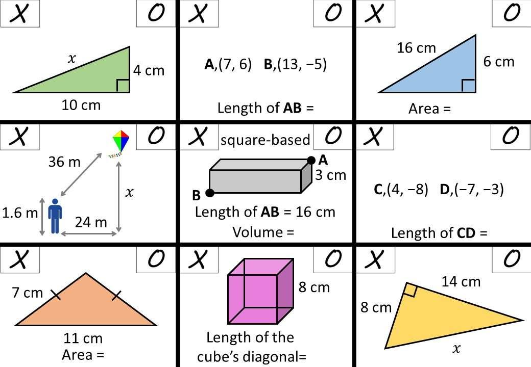 Pythagoras - Mixed - Noughts & Crosses