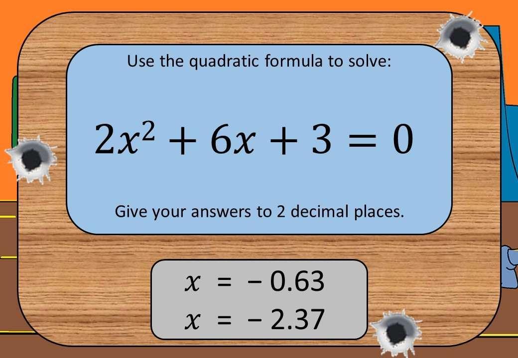 Quadratic Equations - Formula - Shootout