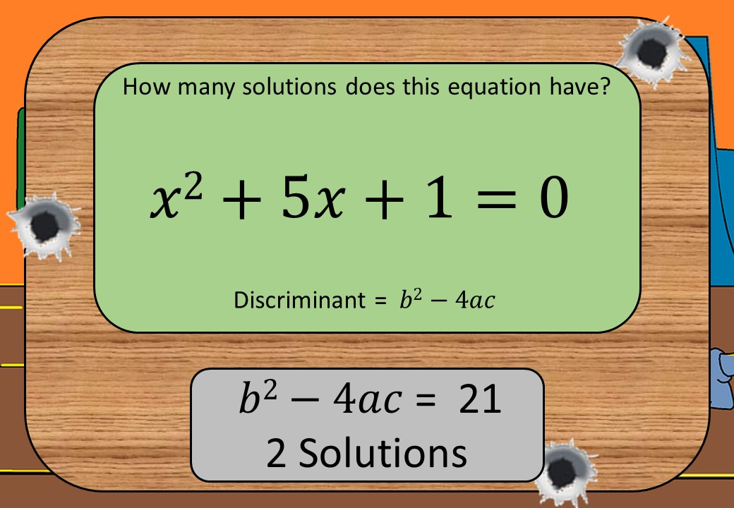 Quadratic Equations - No Solutions - Shootout