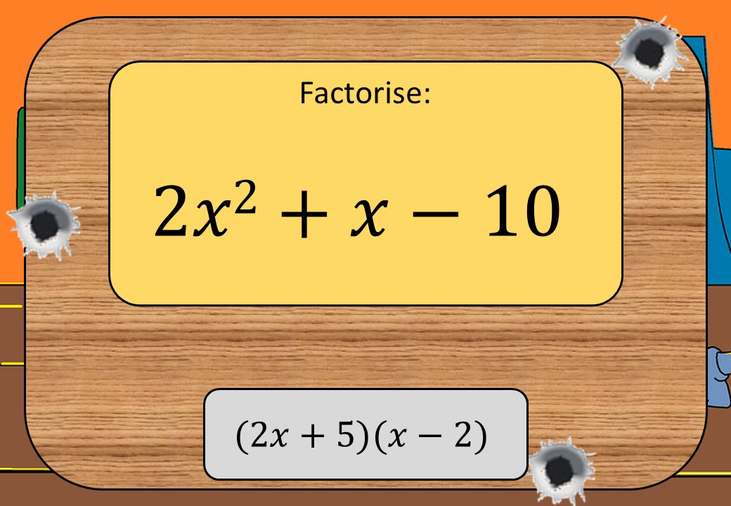 Quadratic Factorisation - With Coefficients – Shootout