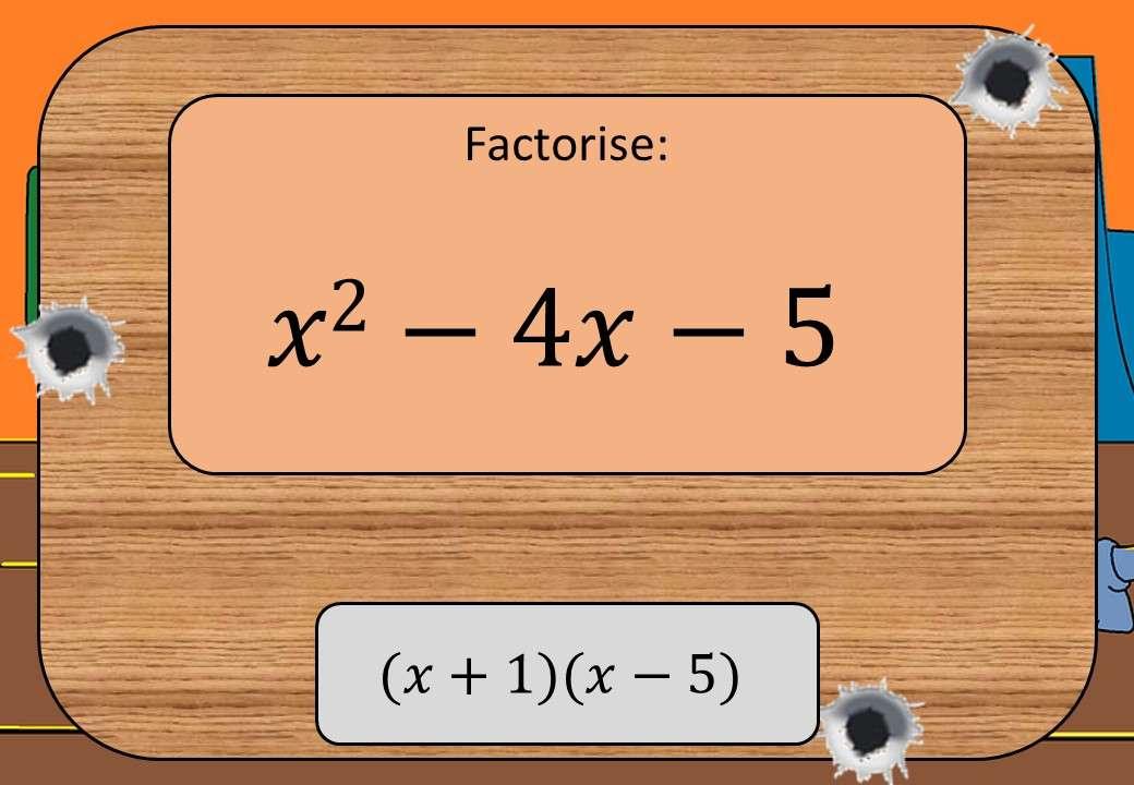 Quadratic Factorisation - Without Coefficients - Shootout