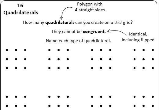 Quadrilaterals - Classifying - Worksheet B
