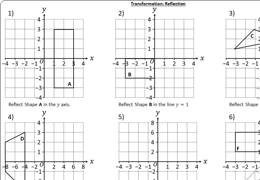 Reflection - Worksheet A