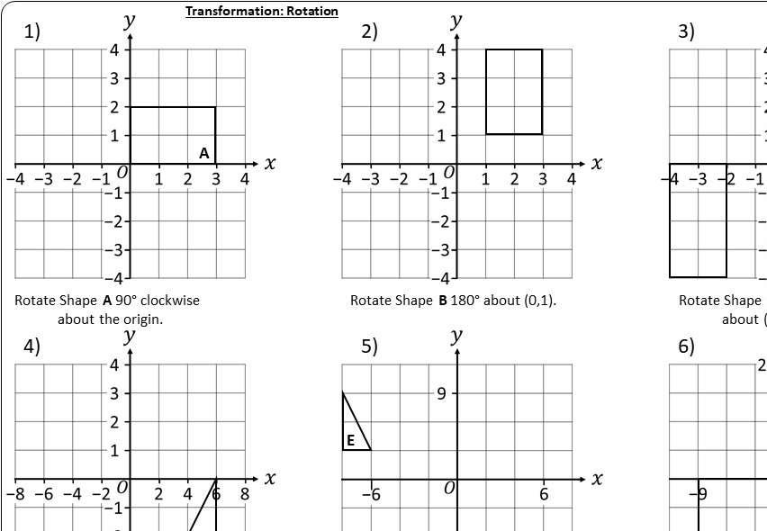 Rotation - Worksheet A