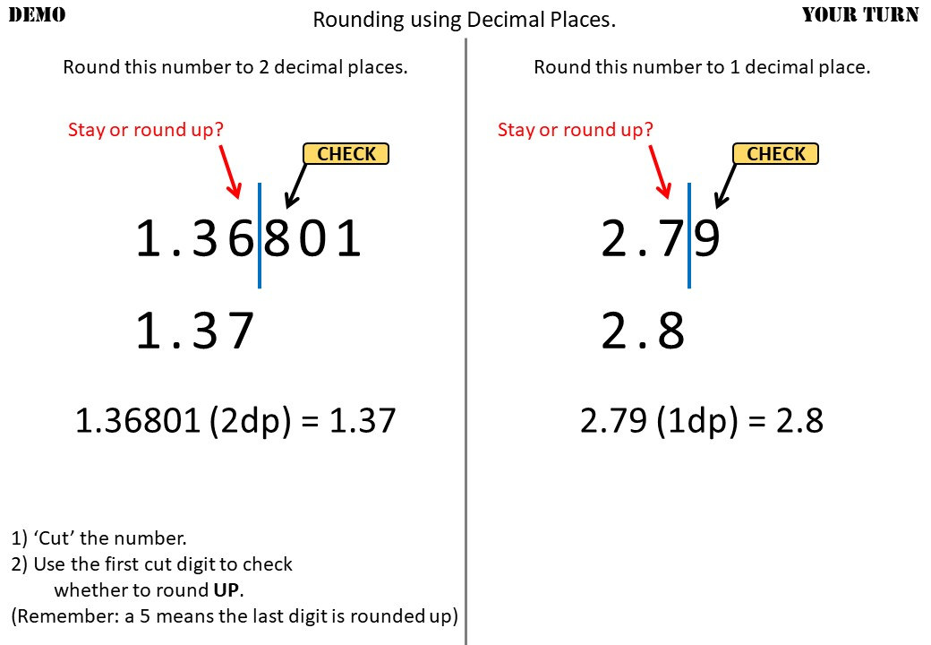 Rounding - Decimal Places & Significant Figures - Demonstration