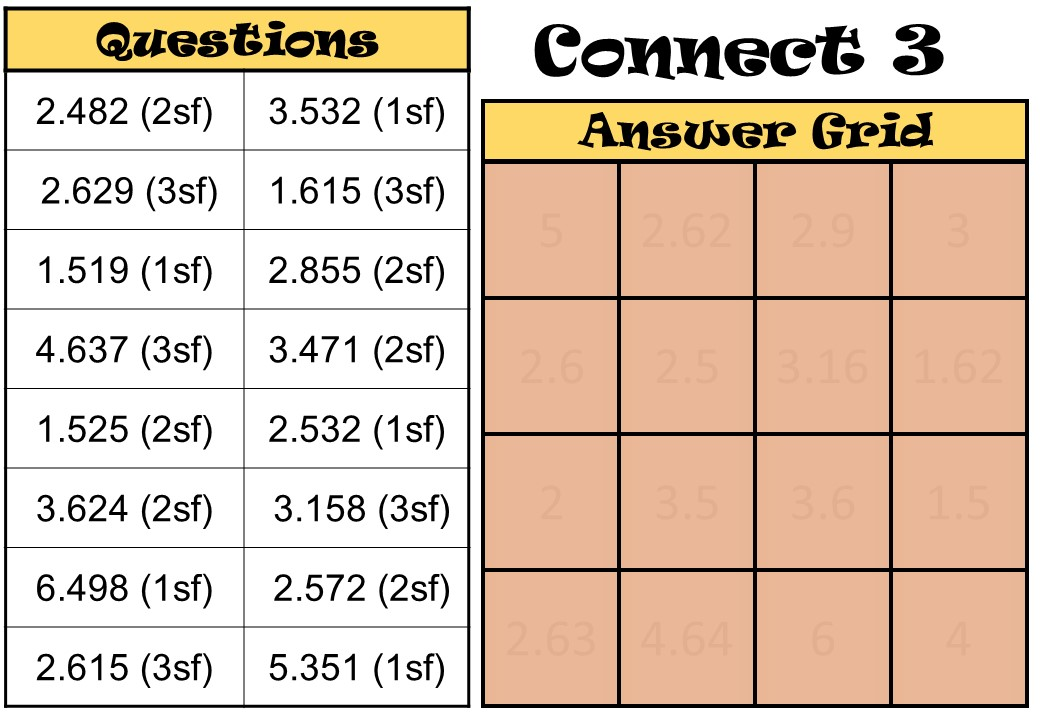Rounding - Significant Figures - Connect 3