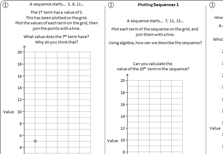 Sequences & Graphs - Worksheet A