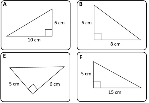Similar Triangles - Card Match