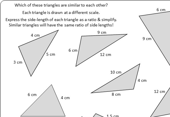 Similar Triangles - Worksheet C