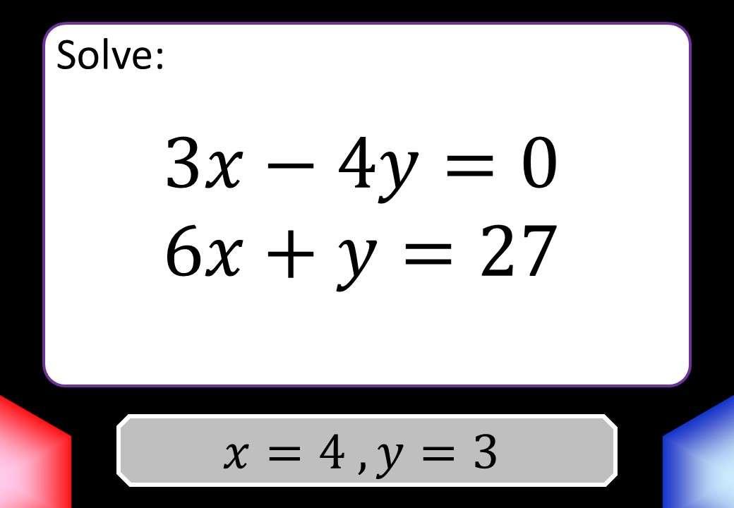 Simultaneous Equations - Balancing - Blockbusters