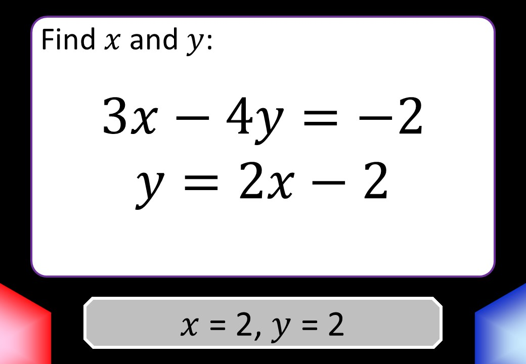 Simultaneous Equations - Substitution - Blockbusters
