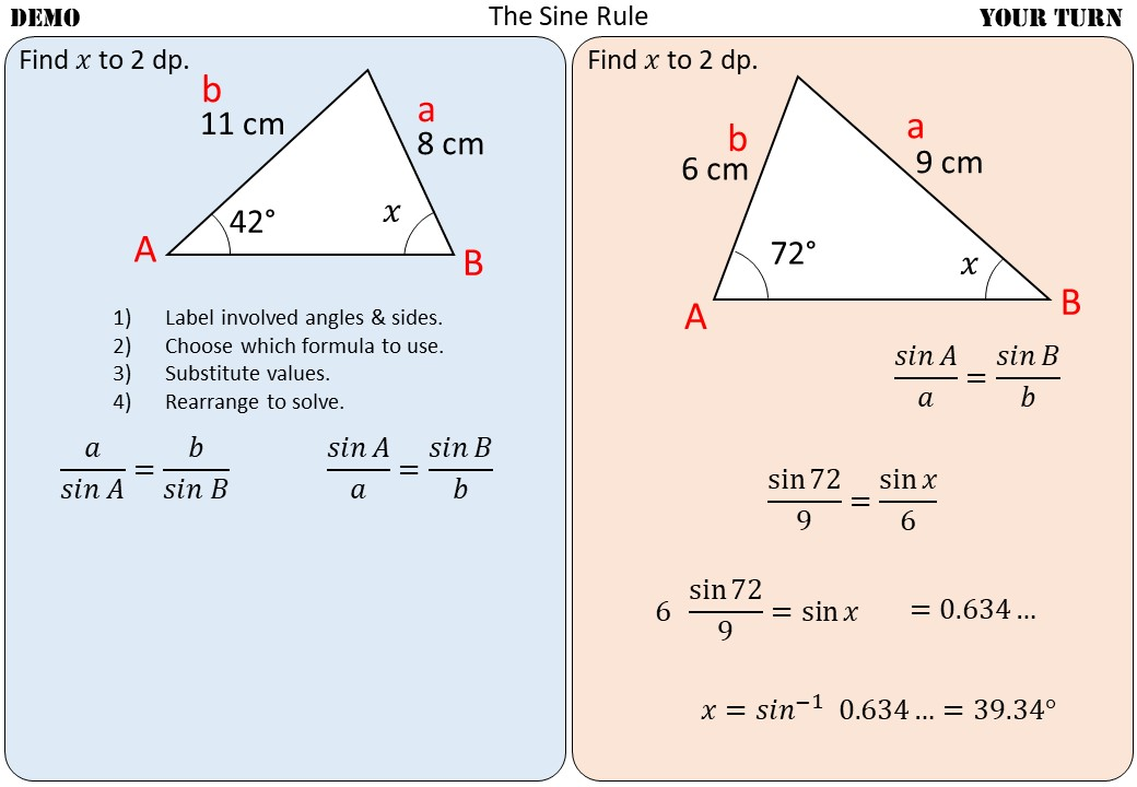 Sine Rule - Demonstration