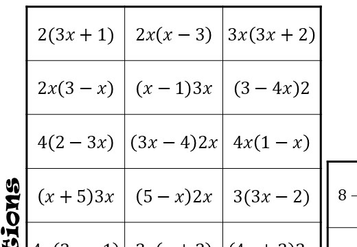 Single Brackets - Expanding - With Indices - Four in a Row
