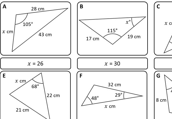 Solving Any Triangle - Card Match