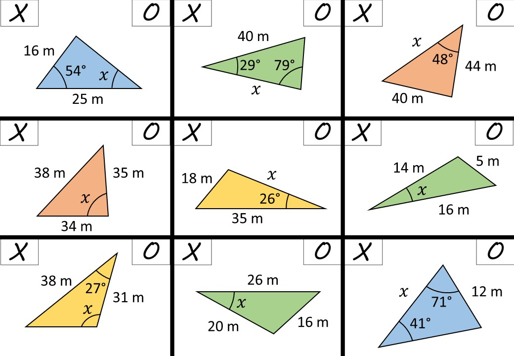 Solving Any Triangle - Noughts & Crosses