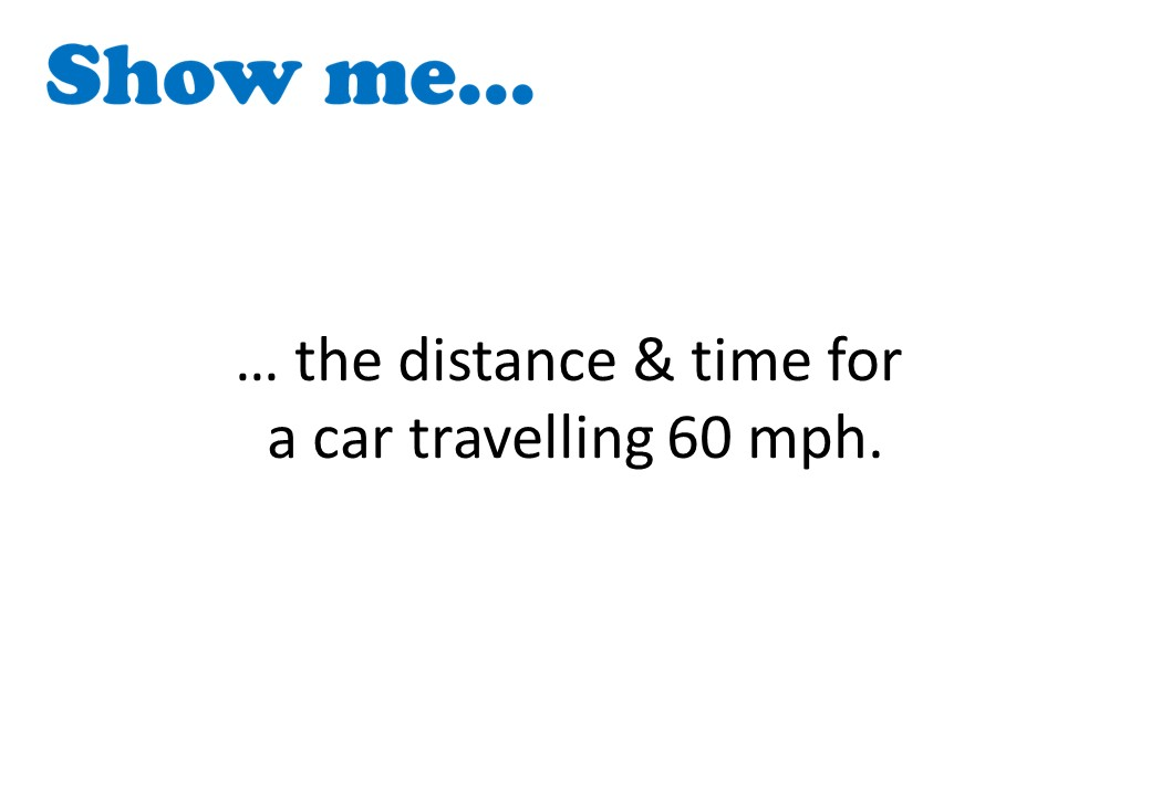 Speed, Distance & Time - Show Me