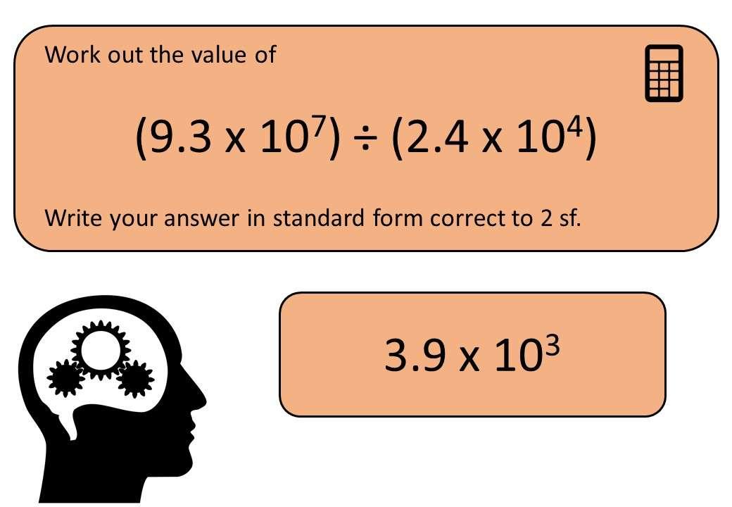 Standard Form - Multiplying & Dividing - Calculator - Bingo OA