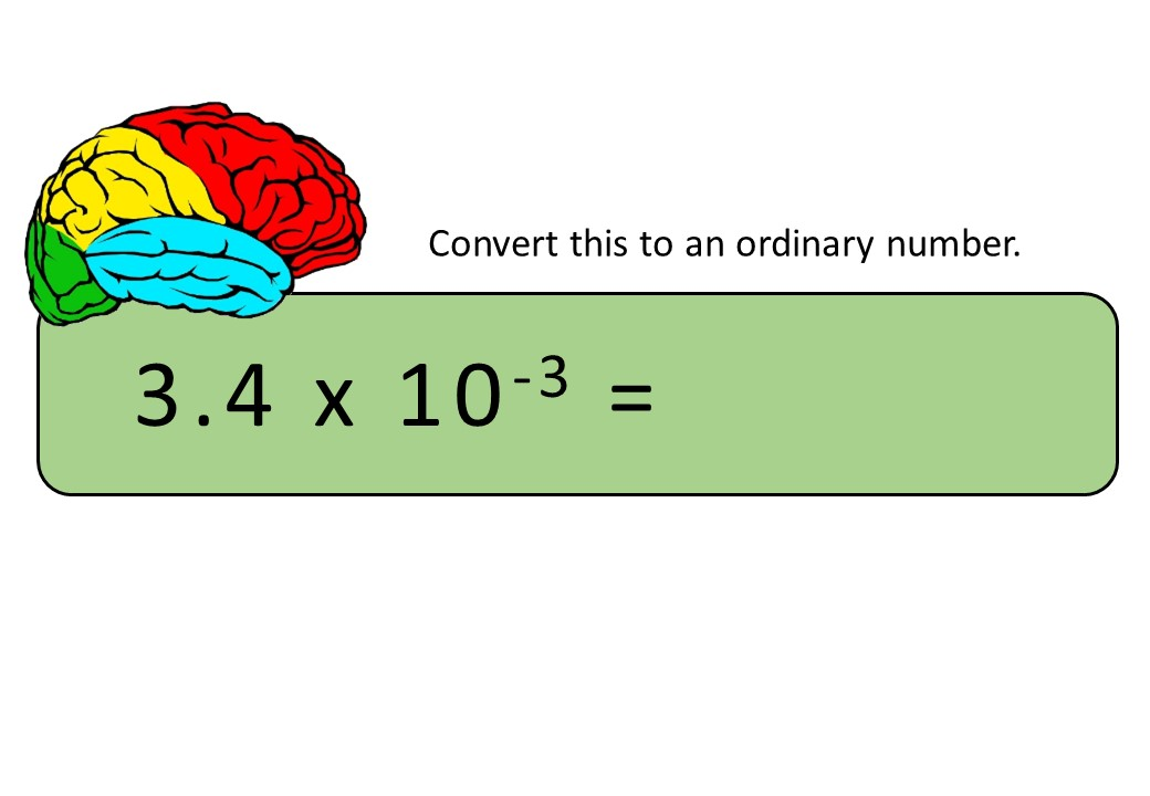 Standard Form & Ordinary Numbers - Converting - Bingo OA