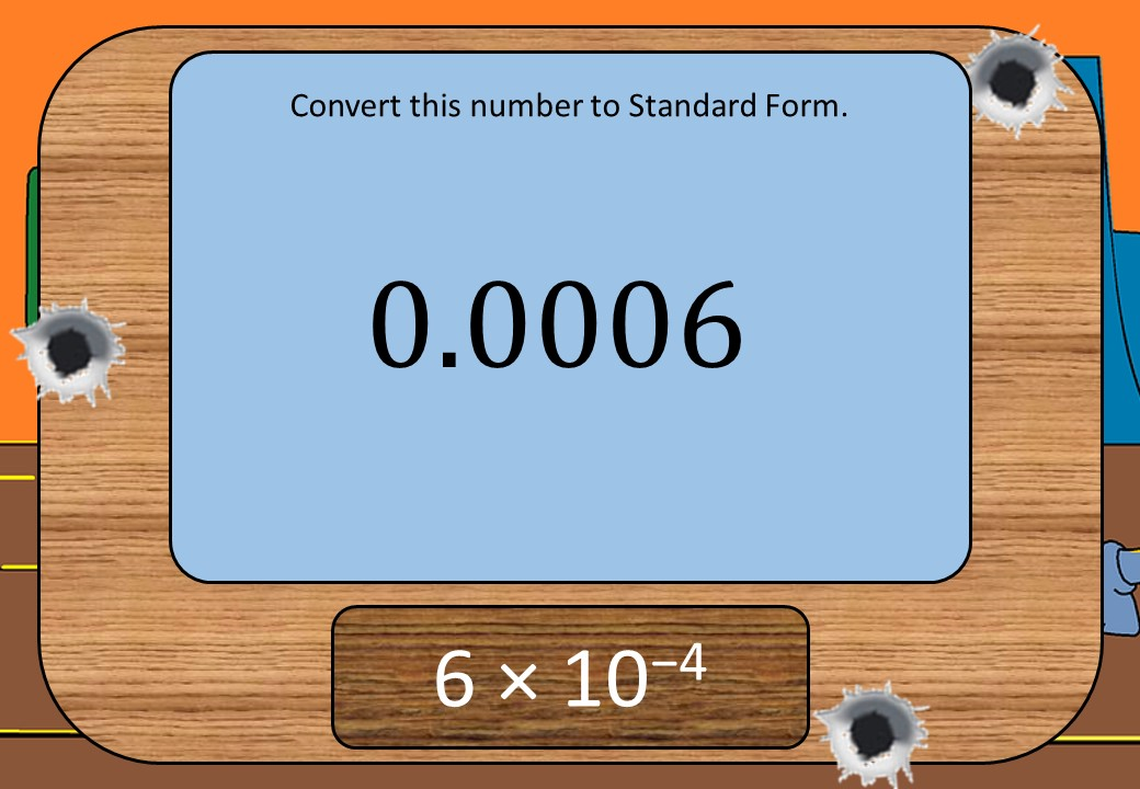 Standard Form & Ordinary Numbers - Converting - Shootout