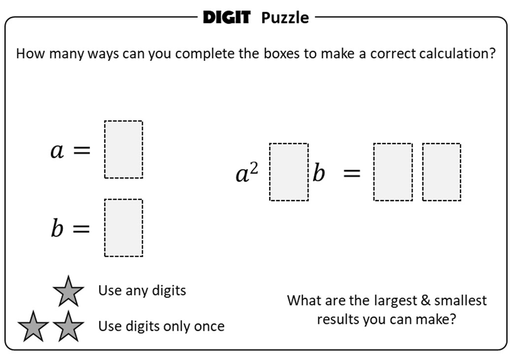 Substitution - Positive - With Indices - Digit Puzzle