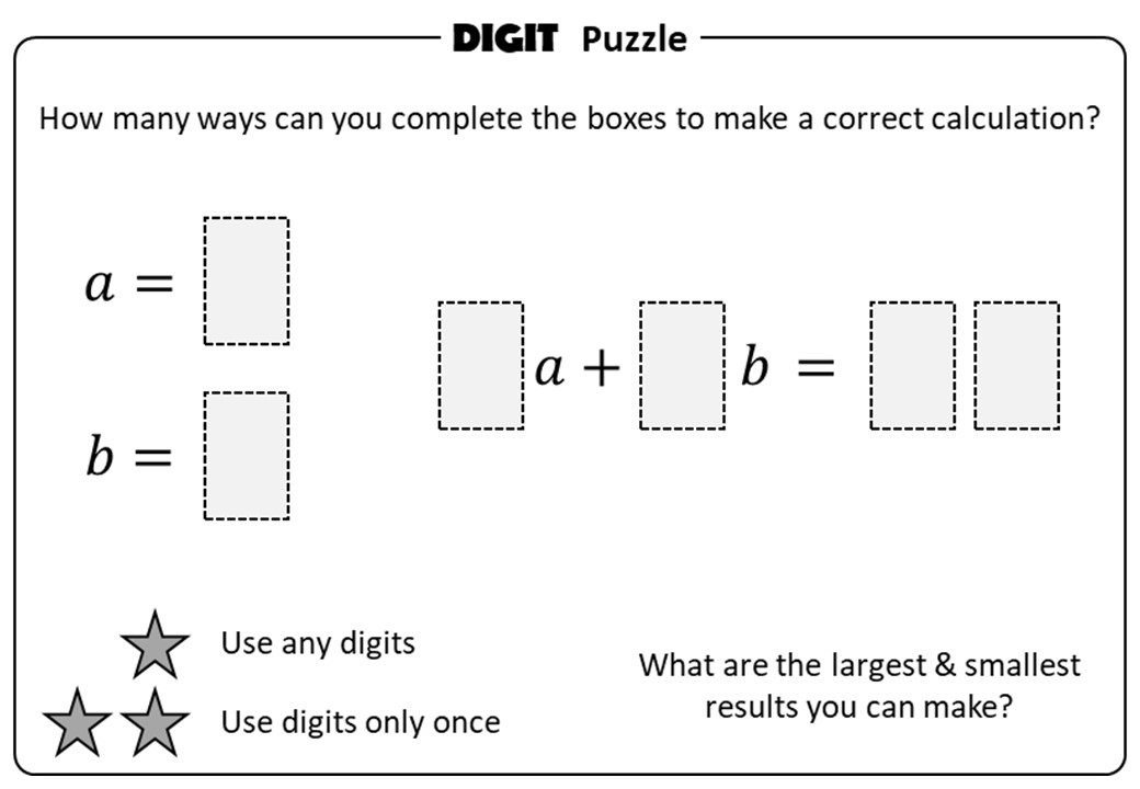 Substitution - Positive - Without Indices - Digit Puzzle