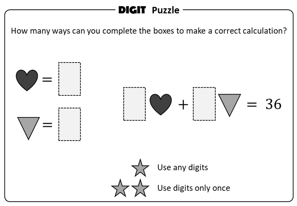 Substitution - Symbols - Positive - Digit Puzzle