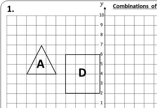 Transformations - Combinations - Worksheet B