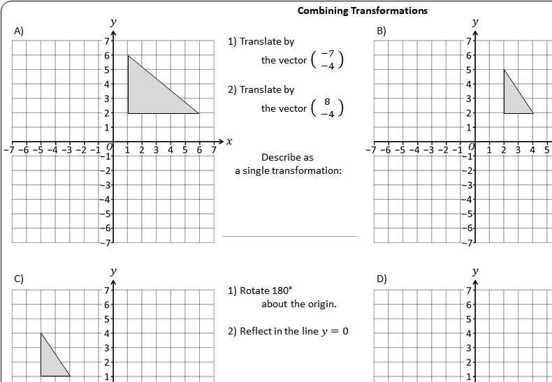 Transformations - Combinations - Worksheet C