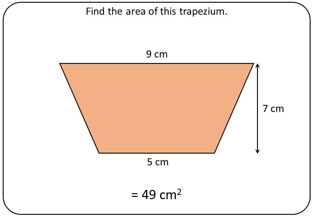 Trapezium - Area - Bingo OA A