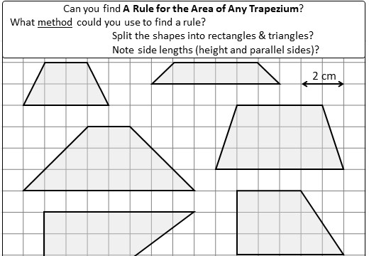 Trapezium - Area - Worksheet B