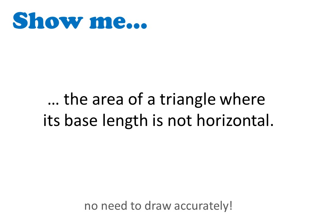 Triangle - Area - Show Me