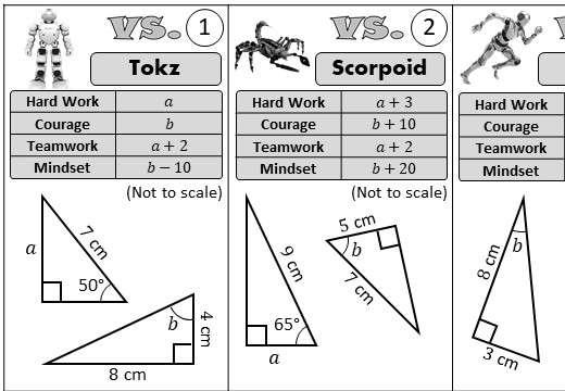 Trigonometry - Angles & Lengths - Versus