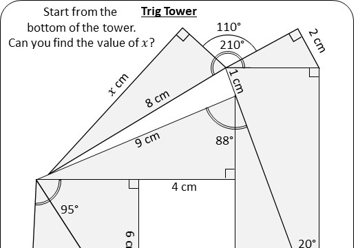 Trigonometry - Angles & Lengths - Worksheet A