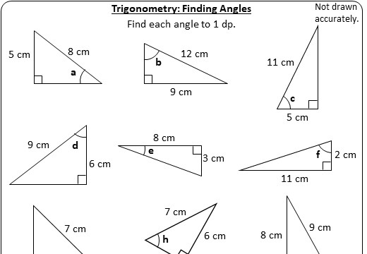 Trigonometry - Angles - Worksheet A