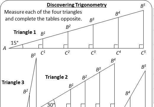 Trigonometry - Introduction - Worksheet A