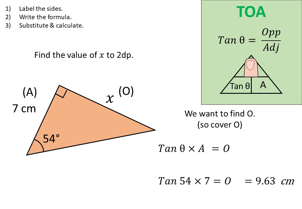 Trigonometry - Tangent - Lengths - Demonstration