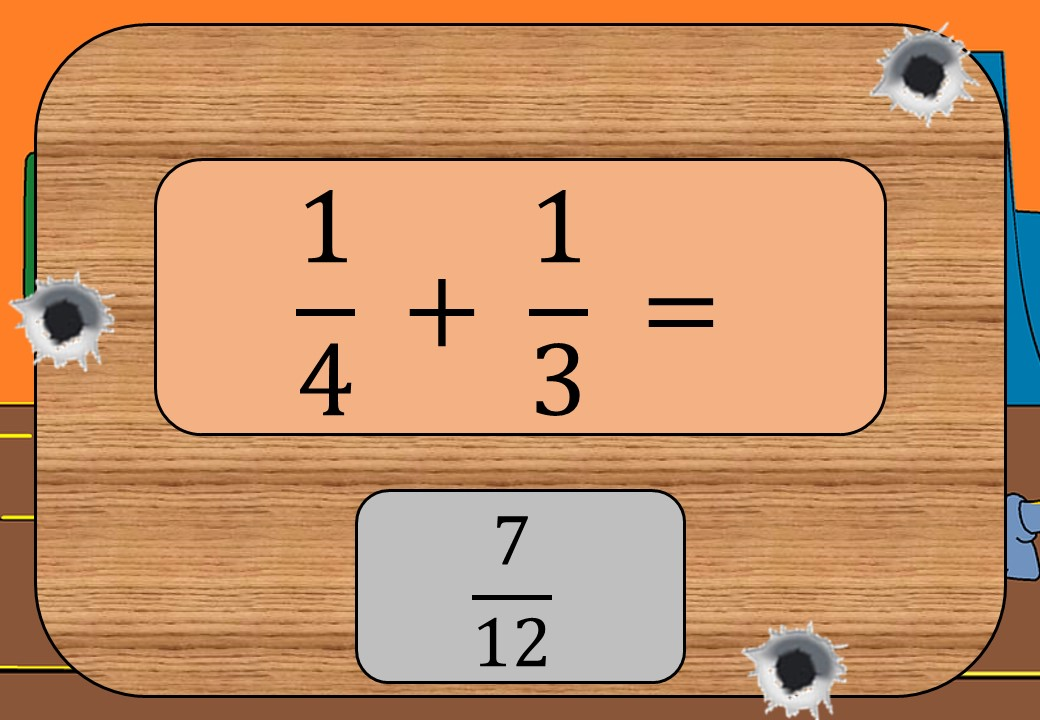 Unit Fractions - Adding & Subtracting - Shootout