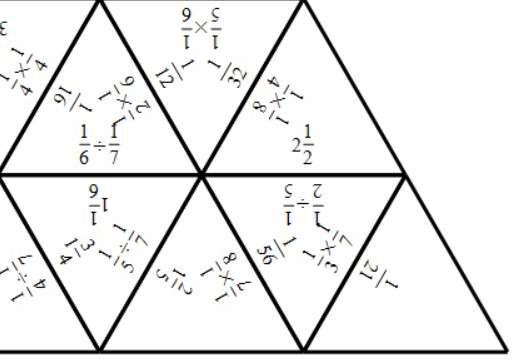 Unit Fractions - Multiplying & Dividing - Tarsia
