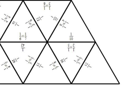 Unit Fractions - Multiplying - Tarsia