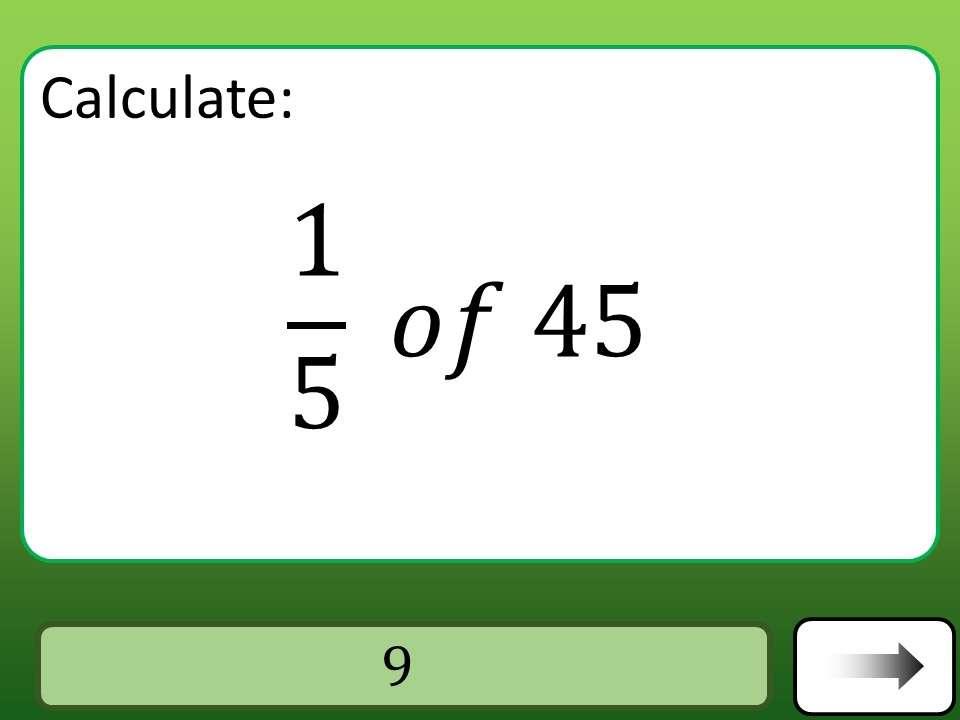 Unit Fractions of Quantities - Car Race
