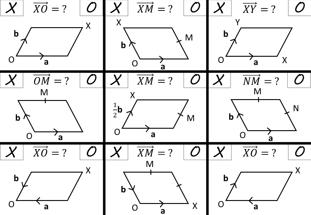 Vectors - Expressing - Noughts & Crosses