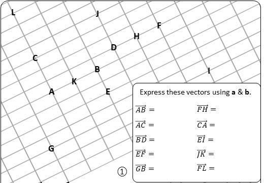Vectors - Expressing - Worksheet C
