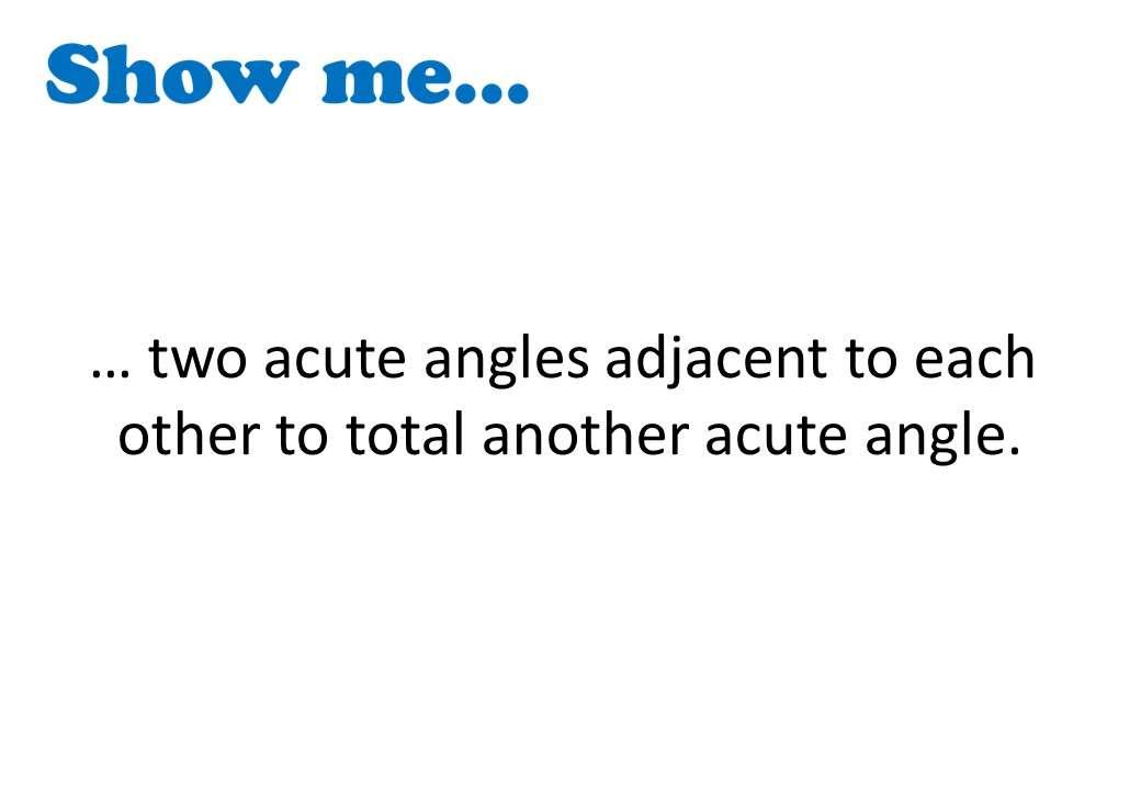 Angle - Vocabulary - Show Me