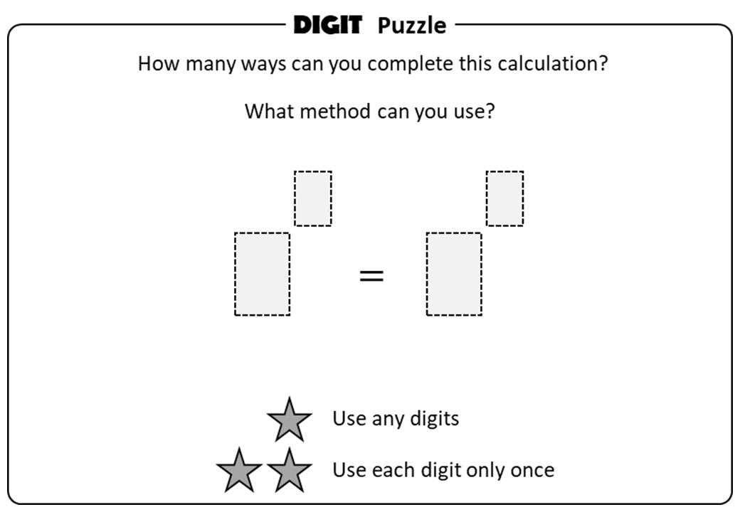 Indices - Brackets - Digit Puzzle