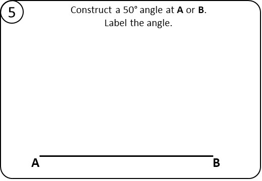 Angles - Constructing & Measuring - Relay Race