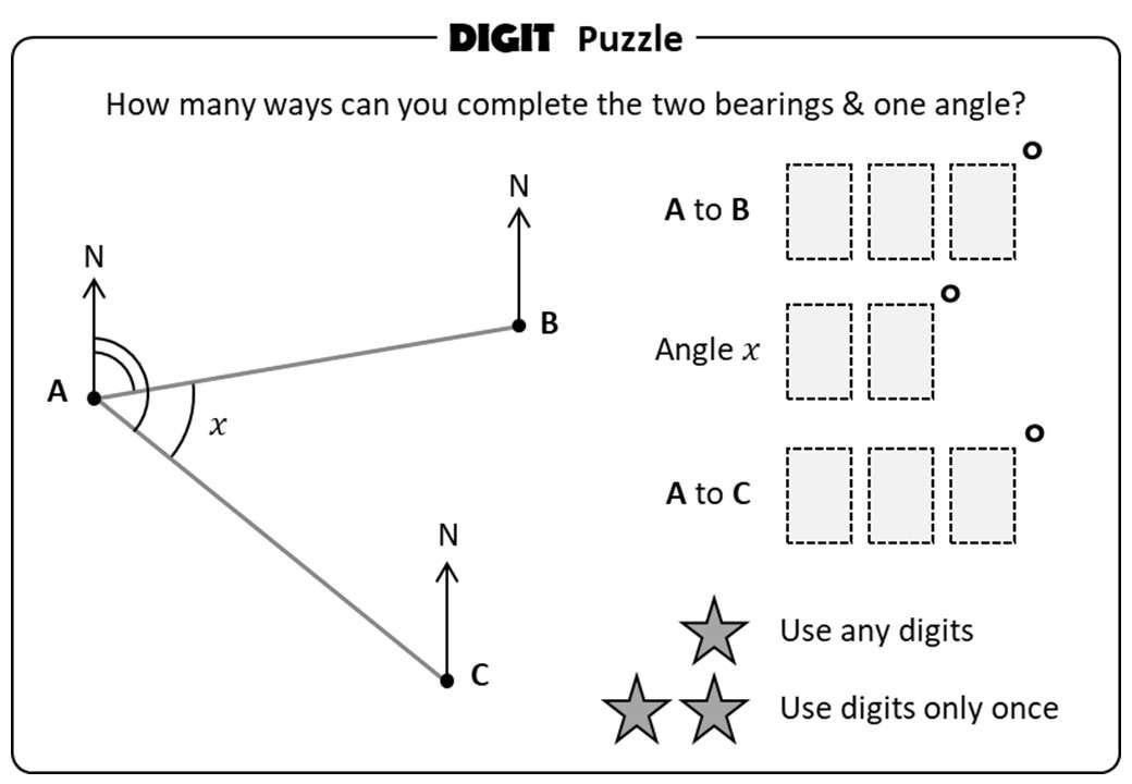 Bearings - Calculating - Digit Puzzle
