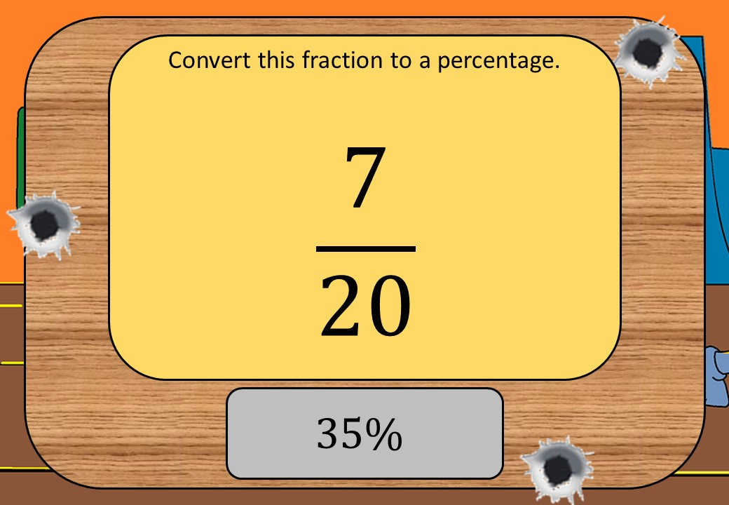 Converting Fractions to Decimals, Percentages & Ratios - Shootout