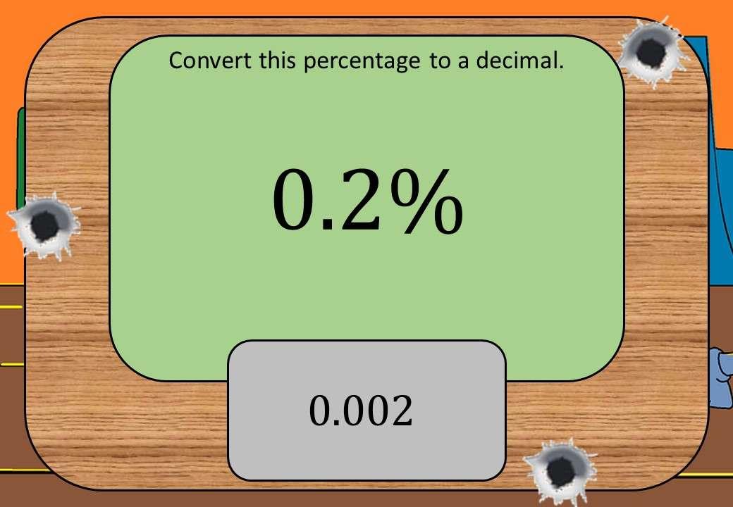 Equivalence - Decimals & Percentages - Shootout