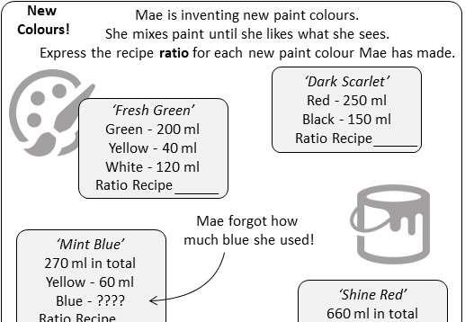 Ratio - Reverse - Worksheet C